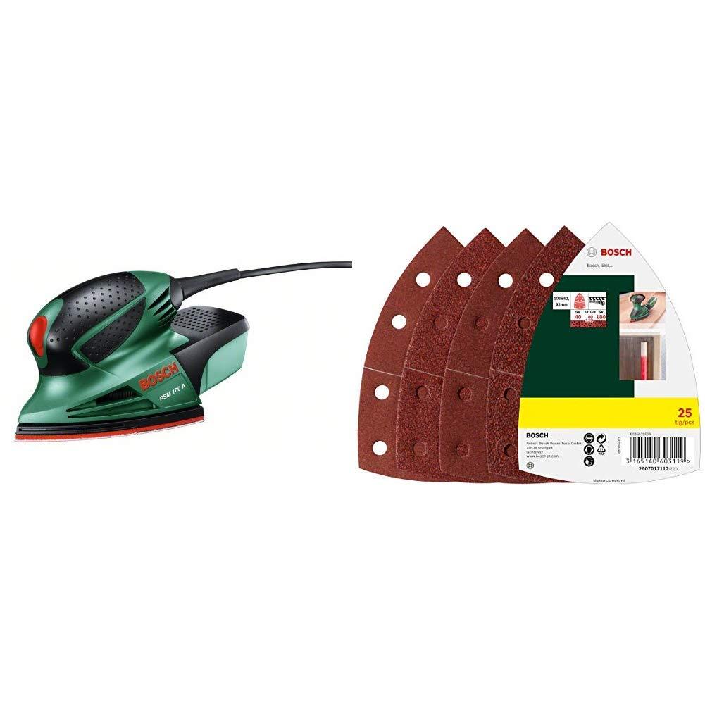 Bosch DIY Multischleifer PSM 100 A Schleifblatt Set 3 Schleifbl/ätter K 80// K 120// K 160 Bosch 25tlg Holz, F/üller, Spachtel, Farbe, Lack, Zubeh/ör f/ür Multifunktionswerkzeuge Koffer