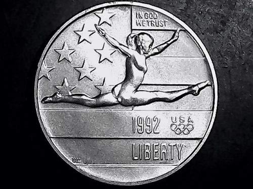 1992 P Olympic Gymnast US Commemorative BU Half Dollar (1/2) Brilliant Uncirculated US Mint