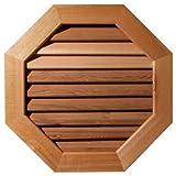 Ekena Millwork GVWOC24X2401RFUWR Unfinished, Functional, Rough Sawn Western Red Cedar with 1-Inch x 4-Inch Flat Trim Octagonal Gable Vent 29-Inch x 29-Inch Frame Size, 24-Inch x 24-Inch
