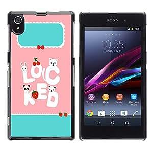 Dragon Case - FOR Sony Xperia Z1 L39 - stay with each other - Caja protectora de pl??stico duro de la cubierta Dise?¡Ào Slim Fit