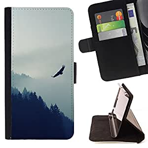 Momo Phone Case / Flip Funda de Cuero Case Cover - Eagle Mountain;;;;;;;; - Samsung ALPHA G850