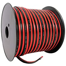 Rockville R14GSBR200 Red/Black 14 Gauge 200-Feet Spool Car Audio Speaker Wire