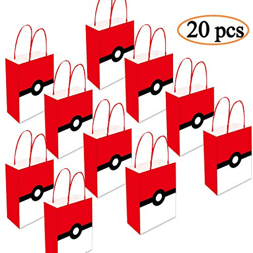 Holiday Treats Gift - 20PCS Video Game Party Supplies Gift Bags, Candy and Goody Bags for Favors, Treats and Goodies Bags - Holiday Gift Bag Gamer Party Supplies for Kids Birthday, 8 x 6 x 3 Inches