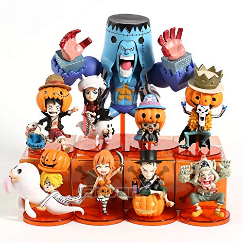 9pcs/Set 6-13cm (2.4-5.1 inch) - One Piece Halloween Special Vol.2 Luffy Zoro Sanji Robin Nami Franky Usopp Chopper Brook Mini PVC Figure