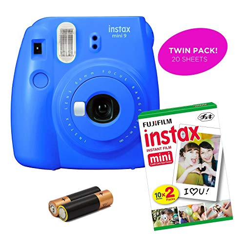 Fujifilm – Instax Mini 9 & Instax Mini 7S Instant Camera Product Bundles | Film Pack Options | Renewed (Mini 9 + 1 Film Pack, Cobalt Blue)