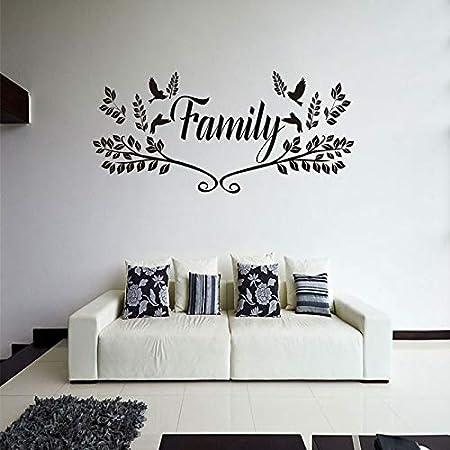 zhuziji Pegatinas de Pared de Oso y Amigos, Family Love Tree Birds ...