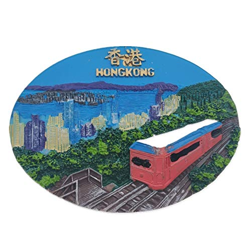 Refrigerator Magnets Resin 3D Funny Light Rail Hong Kong China City Tourist Souvenirs Fridge Stickers Magnetic Fridge Magnet for Whiteboard Home Kitchen Decoration Accessories Gifts]()