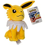 "Jolteon ~7.5"" Mini-Plush: Pokemon Evolution of Eevee Series"