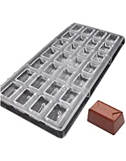 Grainrain DIY Chocolate Molds Clear Hard Plastic Polycarbonate PC Mould Rectangle Shaped