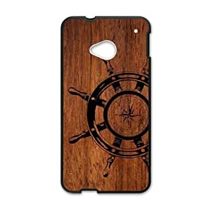 Canting_Good,wood, Custom Case for HTC One M7(Laser Technology)