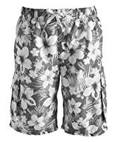 Kanu Surf Men's Miles Swim Trunks (Regular & Extended Sizes), Dominica Charcoal, 2X
