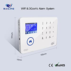 3G WiFi Alarm System Dual Network TFT Touch Screen Display & keypad Home Alarm System