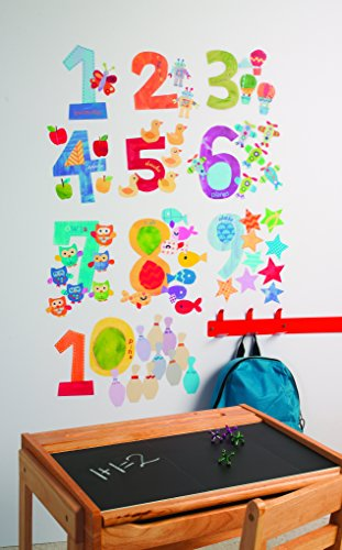 Wallies Wall Decals, Counting Numbers Wall Stickers, Includes 10 Numbers by Wallies (Image #1)