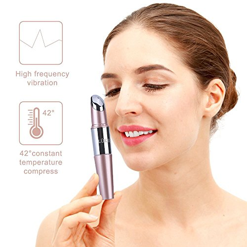 LÜKEE Heated Sonic Facial Massager Wand, Face Massager Roller Wand with High Frequency Vibration, Eliminating Wrinkles Wand,Relieving Dark Circles by LÜKEE (Image #3)