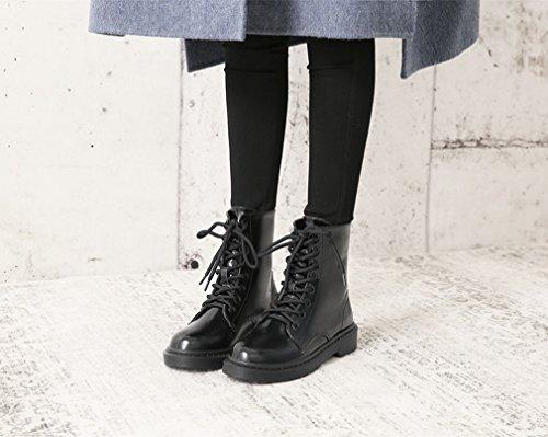 Ani Arrugado Con Botas Redondas En Encaje Cálido Engrosamiento Botas De Nieve De Cachemira Western Wind Shoes Onu