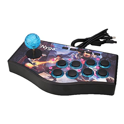 Cewaal Wired Arcade Street Joystick Gamepads Fighting Stick USB Game Controller For PS2 PS3 - Controller Arcade Wii
