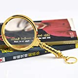 ANHPI 5X Handheld Magnifier For Seniors Reading Glasses Lens Magnifying,Gold-9217218mm