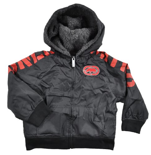 Ecko Unltd Boys Black & Red Hooded Light Jacket