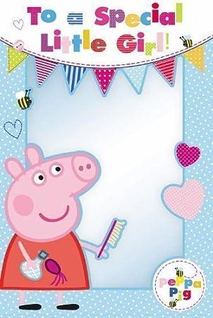 Tarjeta de cumpleaños de Peppa Pig con frase en inglés «to a ...