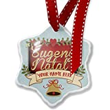 Add Your Own Custom Name, Merry Christmas in Javanese from Java, Indonesia Christmas Ornament NEONBLOND