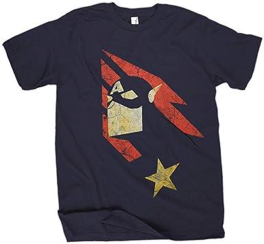 Marvel Captain America Vintage Americana Camiseta Azul Marino Para Hombre: Amazon.es: Ropa y accesorios
