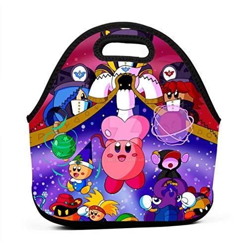FANGHUABATHRHSQ Kirby_Star_Allies Unisex Student Bento Box Lunchbox Multifunction Handbag Rugged Boys/Girls Lunch Bags Picnic School Office (Laptop Ally Bag)