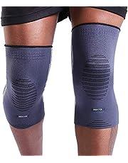 BERTER Unisex kniebrace (2X)/ kniebeschermer/kniesteun/kniesteun/kniebeschermers/kniebandages - glas urenvorm ergonomisch design, zacht materiaal, aangenaam om te dragen - Duits lokaal merk