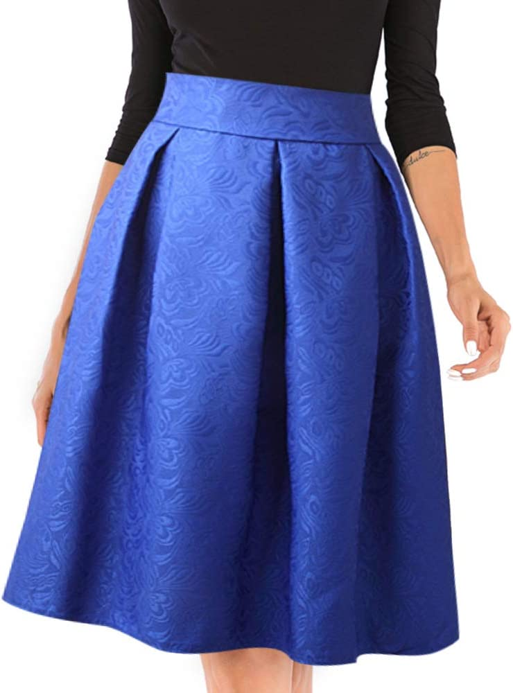 kefirlily Mujer Vintage Falda Plisada Años 50 Hepburn Media ...