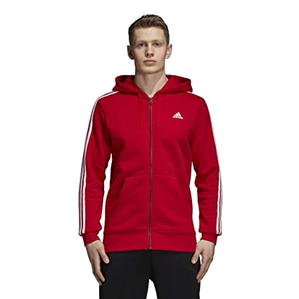 b37206770a86 Amazon.com  adidas Athletics Essentials 3 Stripes Full-Zip Fleece ...