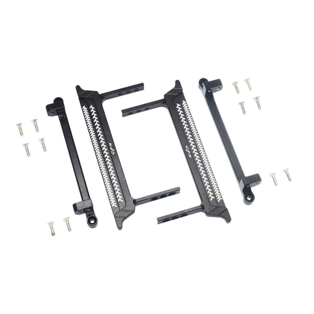 TANGON メタルペダル フットサイドステップ アップグレードパーツ タミヤ 1/10 Pajero メタルトップ ワイド CC-01 B ブラック 44 B07R2M8HZ5 ブラック