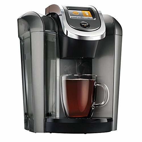 Keurig K575 Coffee Maker Single Serve 2.0 Brewing System with Top Needle Cleaning Maintenance Accessory and My K-Cup Reusable Coffee Filter, Platinum