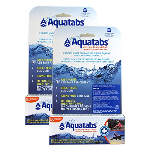 Aquatabs 49 mg (8.5 mg Active) Water Purification Tablets - 2 PACK