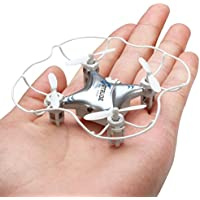 GPTOYS SPACE TREK Nano 2.4GHz & 6 Axis Gyro Quadcopter Drone Rc Explorers Helicopter Quad Copter Advance 360 Flip Silver