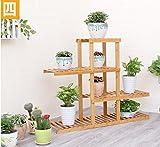 Balcony flower rack / multi-storey stand / pastoral style pot shelf ( Size : 90cm28cm80cm )