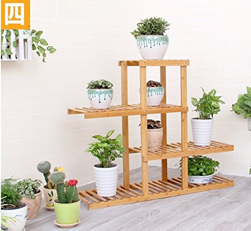 Balcony flower rack / multi-storey stand / pastoral style pot shelf ( Size : 90cm28cm80cm ) by Flower racks - xin