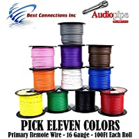 11 SPOOLS 100 Feet 16 GA Gauge Primary Remote Wire Auto Power Cable Stranded