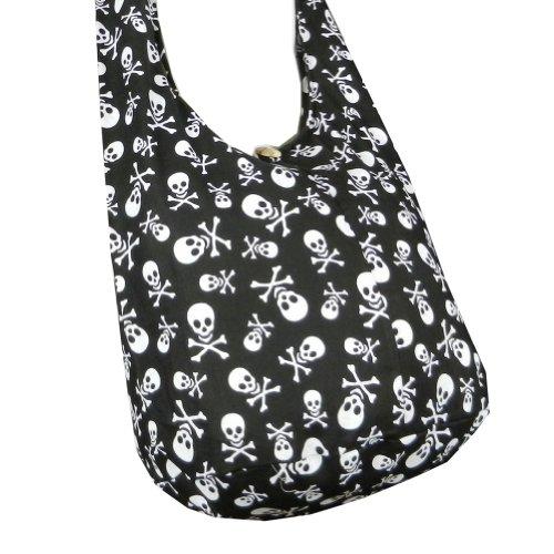 Skull Hippie Cotton Crossbody Messenger product image