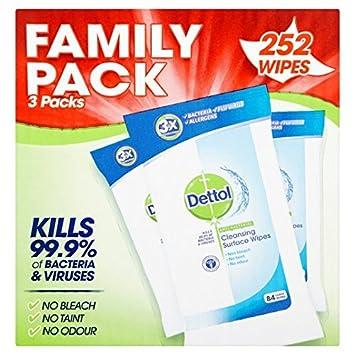 Dettol Antibacteriano toallitas desmaquillantes de 252 por Paquete: Amazon.es: Hogar