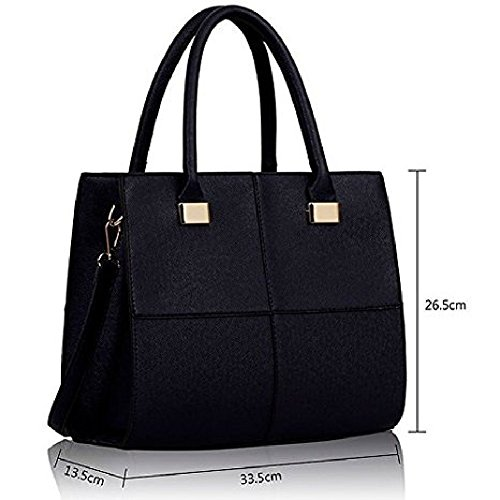 Style Navy Women Celebrity Style Bag Satchel Celebrity Handbag Leather Tote Ladies Style 4 Shoulder Satchel Crossbody qv1nS