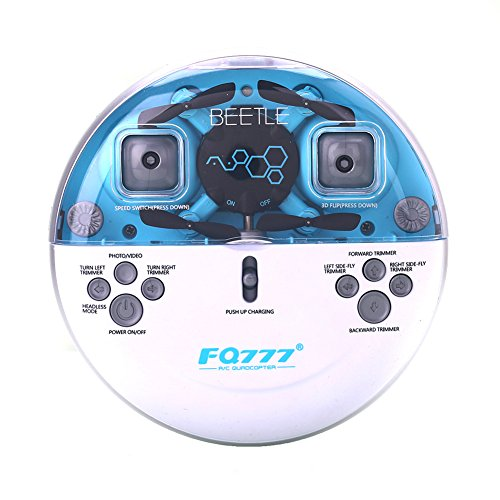 AICase FQ777 FQ04 4CH 2.4GHz 6-axis Gyro Romote Control RC Video Mini Pocket RTF Quadcopter Helicopter Drone UFO 0.3MP Camera (Blue)