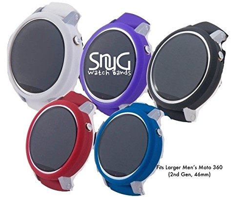 Set of 5 SnuG Watchbands Moto360 22mm Bumper Cases