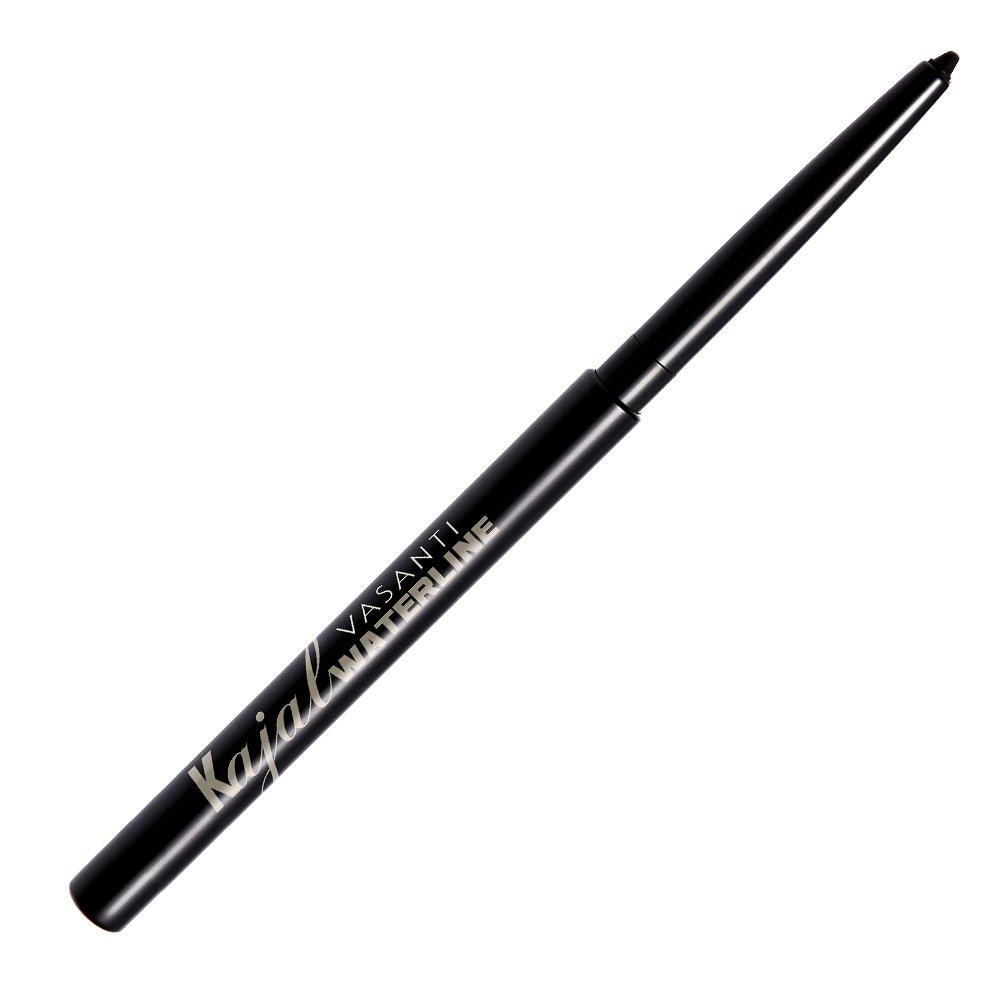 Vasanti Kajal Waterline Eyeliner-Intense Black-Safe to use on Waterline and Tightline (Upper Waterline)-Ophthalmologist Tested and Approved-Paraben Free, Vegan Friendly