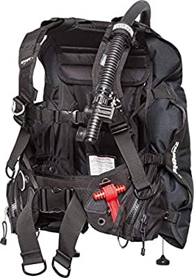Zeagle Stiletto BCD with the Ripcord Weight System, Black, X-Large