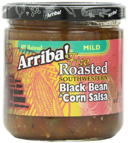 (Arriba! Fire Roasted Southwestern Mild Black Bean & Corn Salsa, 16 Ounce Jars (Pack of)