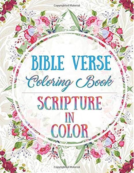 - Amazon.com: Bible Verse Coloring Book: Scripture In Color (9781791607449):  Kiernan, James: Books