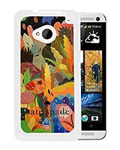 Beautiful DIY Designed Kate Spade Cover Case For HTC ONE M7 White Phone Case 103