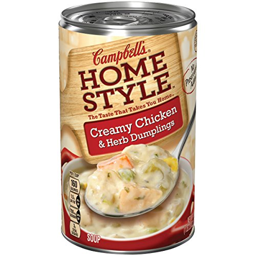 Campbell's Homestyle Soup, Creamy Chicken & Herb Dumplings, 18.8 Ounce (Pack of 12) (Packaging May (Homestyles Creamy)