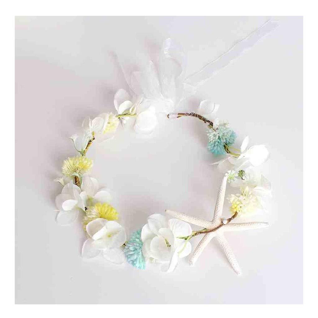 Wreath Flower Headwear Children's Jewelry Wearing Korean Flower Girl Hair Accessories Performance Accessories (Color : A)