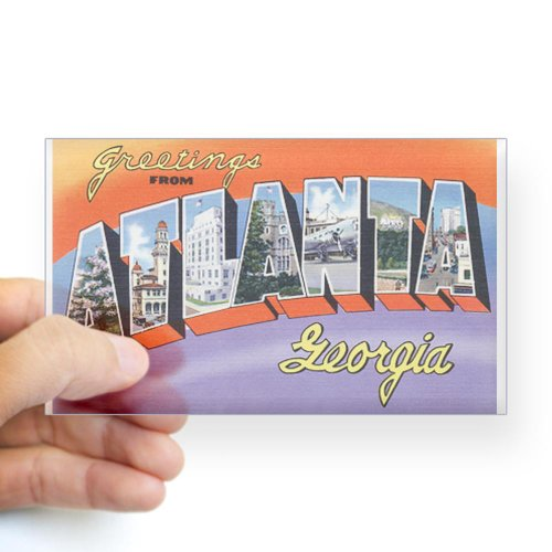 Georgia Ga Postcard (CafePress Atlanta Georgia GA Rectangle Sticker Sticker Rectangle -)