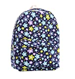 Demarkt Backpack Star Floral Ruckpack Canvas Schoolbag for Girls Student